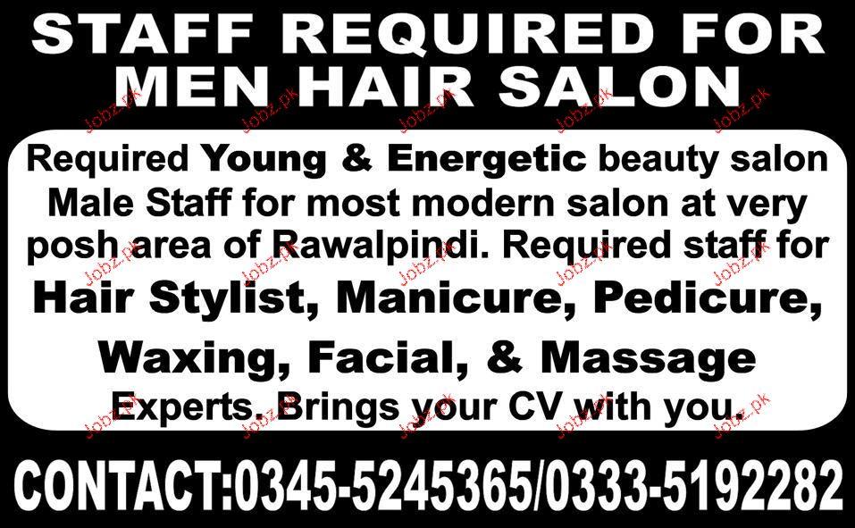 Male Staff for Beauty Salon Job Opportunity