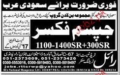 Gypsum Fixers Job opportunity