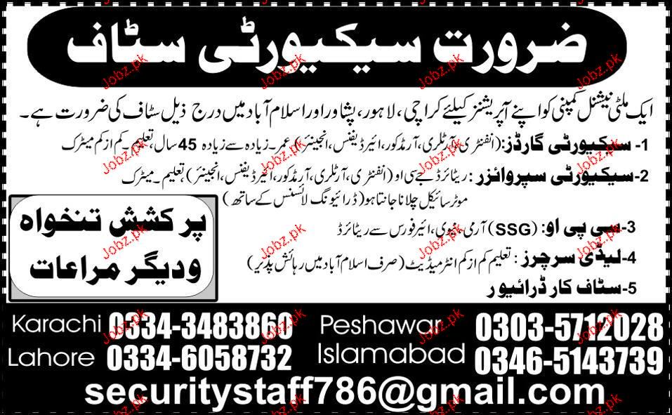 Lady Searchers, Security Guards Job Opportunity