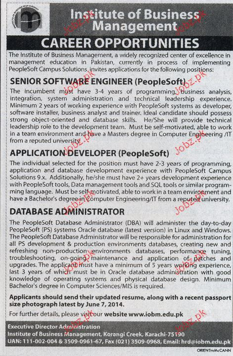Senior Software Engineers, Application Developers Wanted