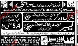 General Workers and Labors Job Opportunity