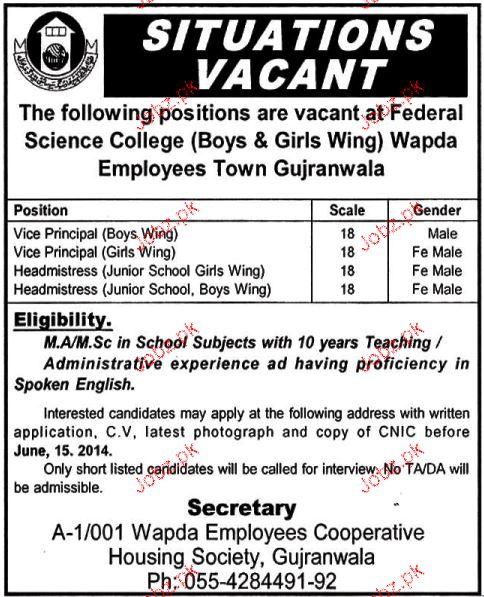 Vice Principal and Headmistress Job Opportunity