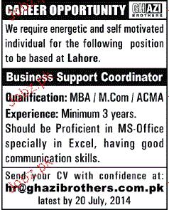 Business Support Coordinators Job Opportunity