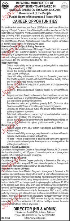 Director Finance, Research Associates Job Opportunity