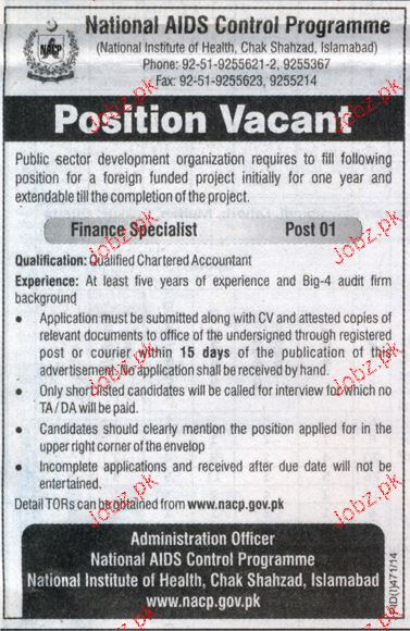 Finance Specialists Job Opportunity