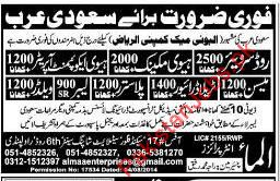 Construction Staff Required for KSA
