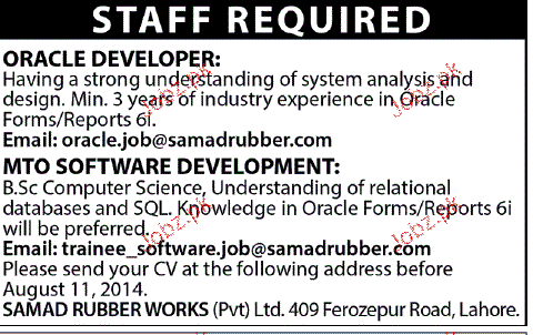 Oracle Developers and MTO Software Developers Wanted