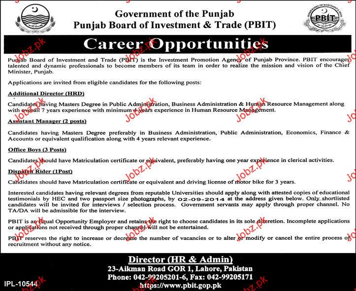 Additional Director, Assistant Manager Job Opportunity