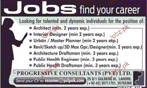 Architects, Interior Designers, Master Planners Wanted
