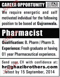 Pharmacist Job Opportunity