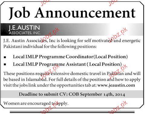 Local IMPL Programme Coordinators Job Opportunity