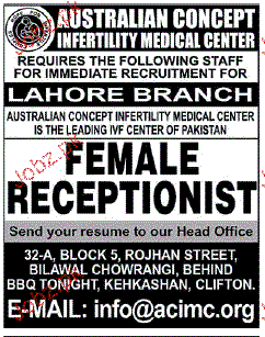 Female Receptionist Job Opportunity