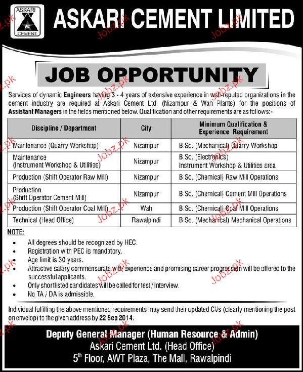 Shift Operators and Technical Head Job Opportunity