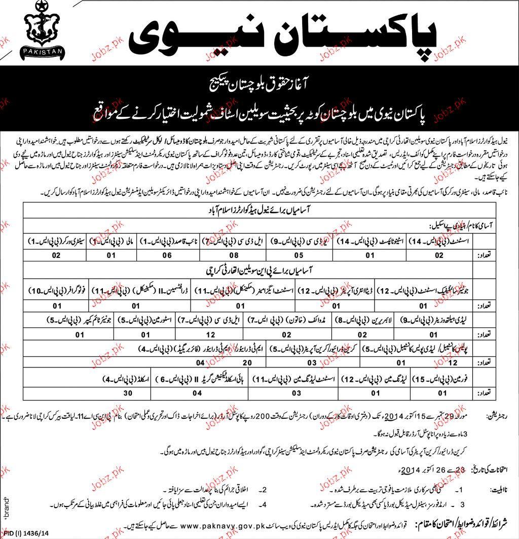 Assistants, Strenotypist, LDC Job in NHQ Islamabad