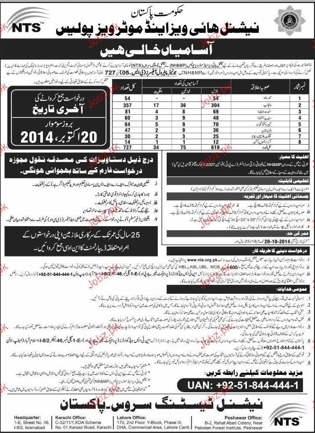 Recruitment in Pakistan Motorway Police