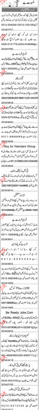 Waiters, Drivers, Care Takers, Travel Agents Job Opportunity