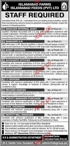 Manger Internal Audit, Manager HR Job Opportunity