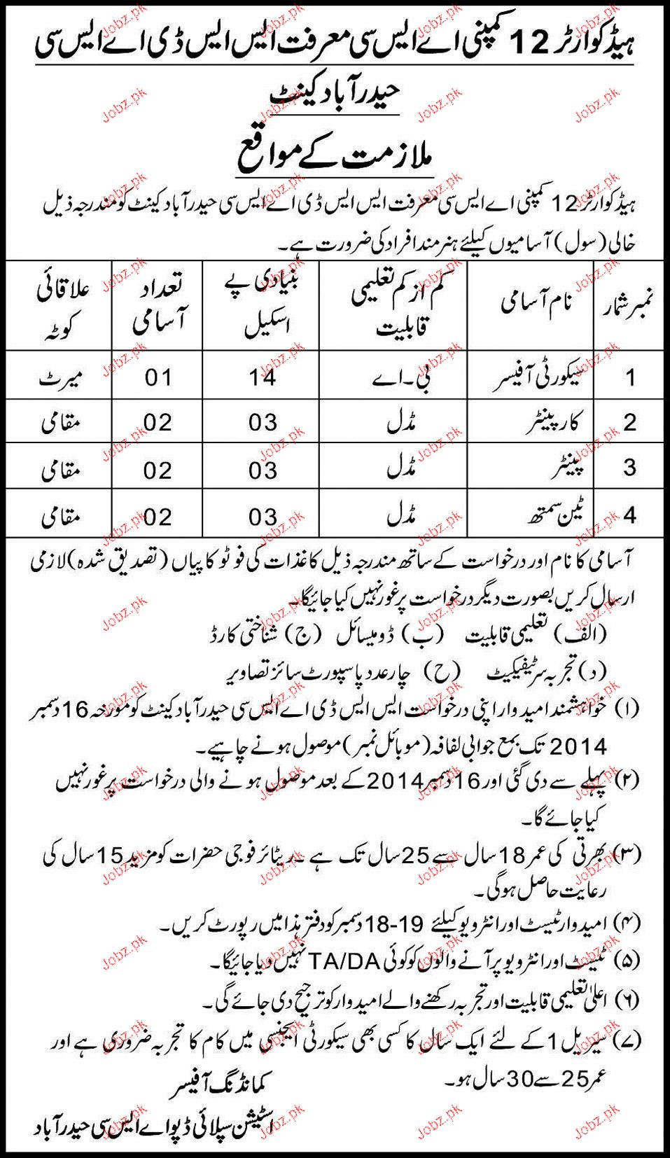 Security Officers, Carpenters, Painters Job Opportunity