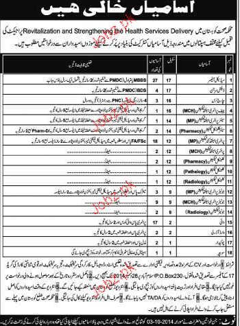 Medical Officers, Dental Surgeon, Charge Nurses Wanted
