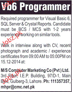 VB6 Programmers Job Opportunity