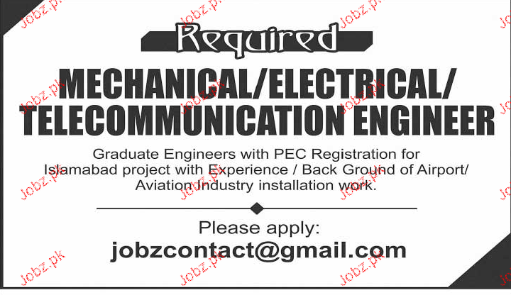 Mechanical Supervisors, Electrical Foreman Job Opportunity