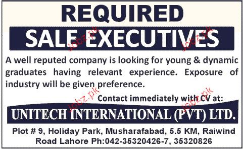 Sales Executives Job Opportunity