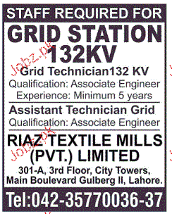 Grid Technicians Job Opportunity