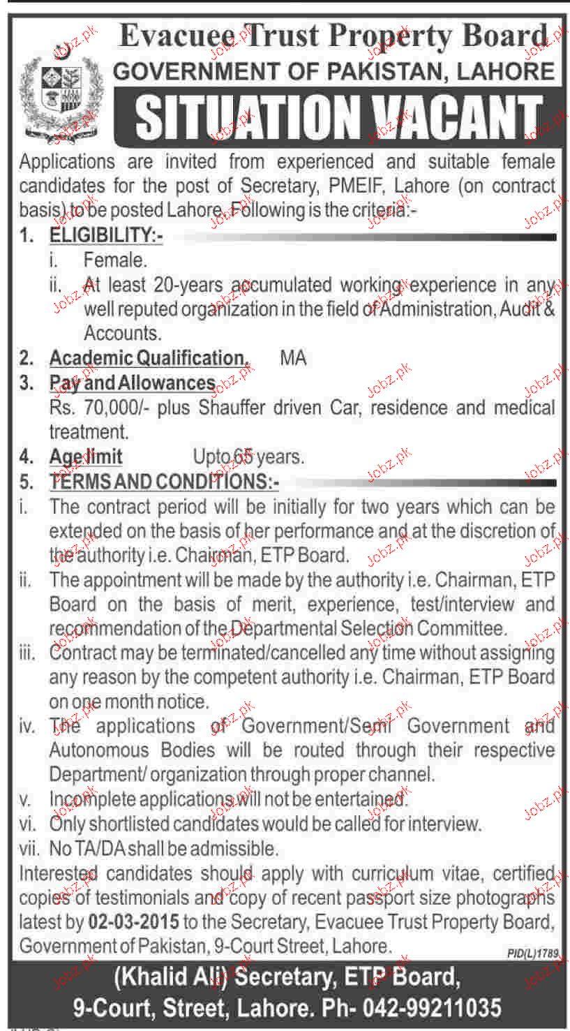 Secretary Job Opportunity
