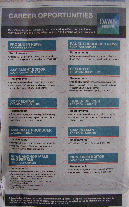 Assignment Editors, Reporters, Copy Editors Wanted