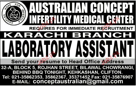 Laboratory Assistants Job Opportunity