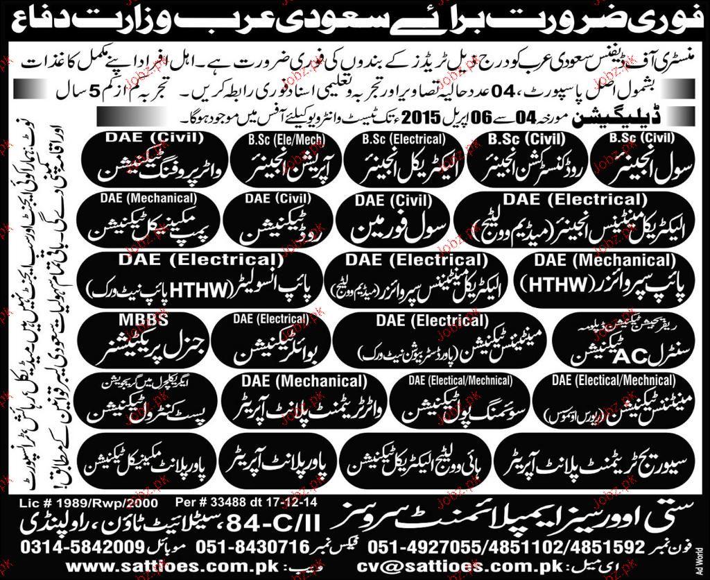 Civil Engineers, Operation Engineers Job Opportunity