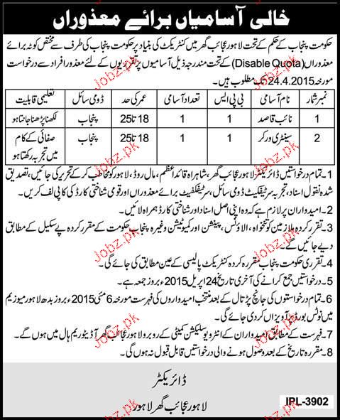 Naib Qasid and Sanitary Workers Job in Lahore Museum