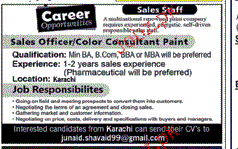Sales Officers / Color Consultants Job Opportunity