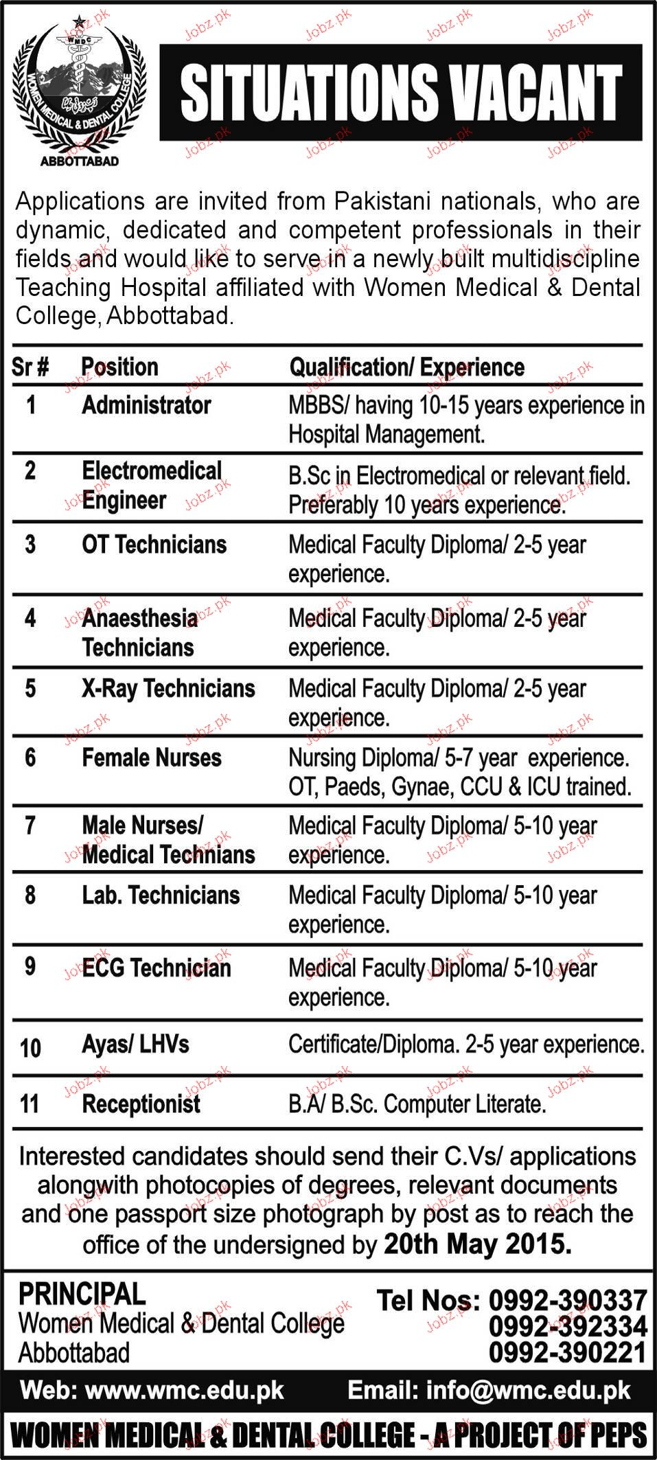 Administrators, OT Technicians Job Opportunity