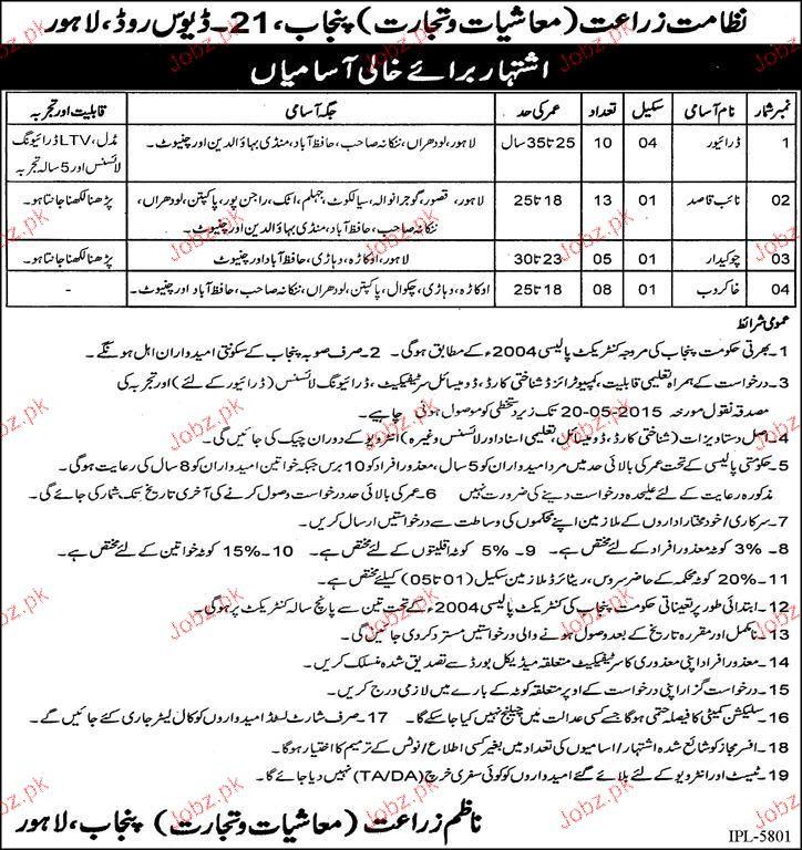 Drivers, Niab Qasid, Chawkidars Job Opportunity