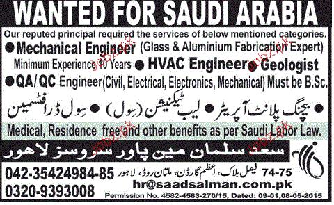 Mechanical Engineers, HVAC Engineers Job Opportunity