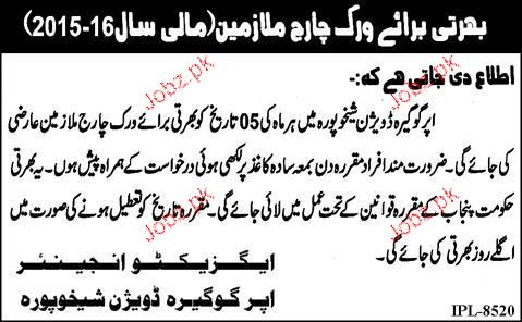 Recruitment of Charge Workers