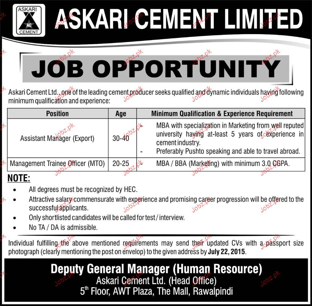 Assistant Manager and Management Trainees Wanted