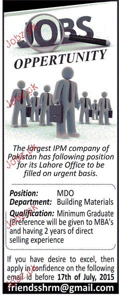 MDO Job Opportunity