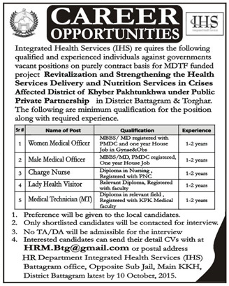 Women Medical Officer, Medical Officer Job Opportunity