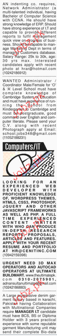 Dawn Classified Computer Professionals Job Opportunity