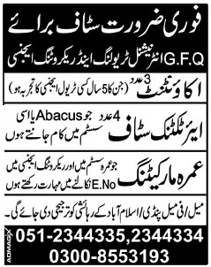 Accountant and Air Ticketing Staff  Job Opportunity