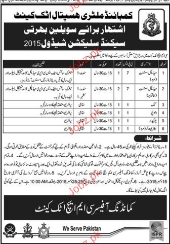 Medical Assistants, Cook, Washerman  Job in CMH