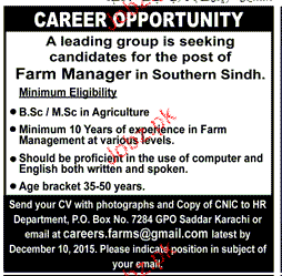Farm Manager Job Opportunity
