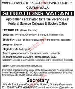 Lecturers Job in Federal Science College