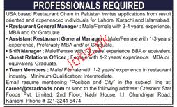 Restaurant General Manager, Shift Manager Job Opportunity