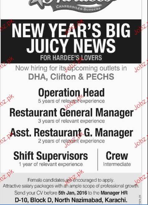 Operation Head, Restaurant General Manager Job Opportunity