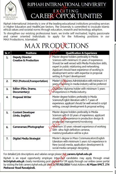 Deputy Director, Editors, Content Developers Job Opportunity