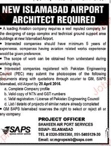 Airport Architects Job in Shaheen Airport Services