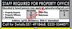 Property Experts, Property Officers Job Opportunity